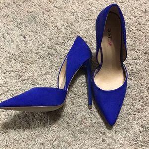 High heels navy